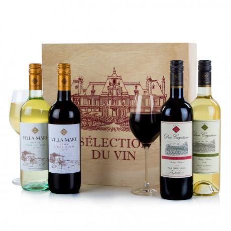 Four Wines in Wood Hamper 2018